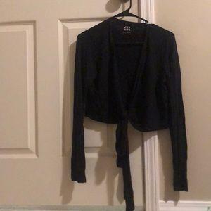 Joylab Tie front Ballet style shirt